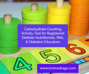 Carbohydrate Counting Activity Tool