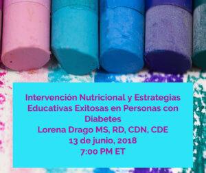 Intervención y Actualización Nutricional y Estrategias Educativas Exitosas en Personas Con Diabetes